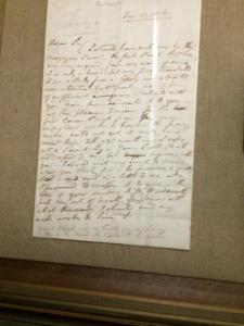 Haydon's letter to Wordsworth, including a transcript of the 'Great Spirits' sonnet. Getting the first two lines and then having to turn over the page--not exactly the best reading experience. Come on, Haydon!