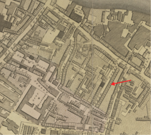 Dean Street as depicted in Richard Horwood's Plan (1792-99). See www.romanticlondon.org to navigate in more detail