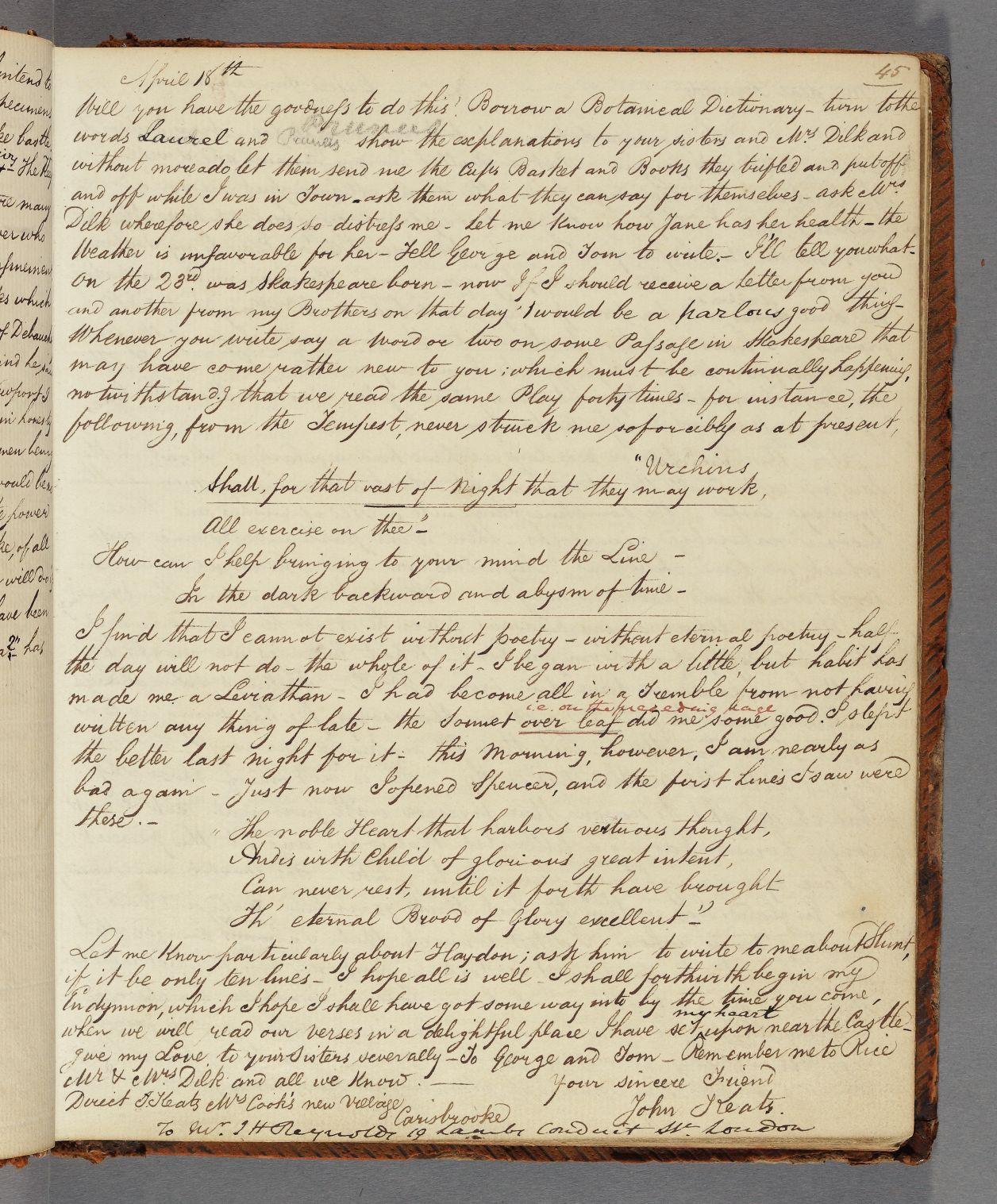 Keats essay questions