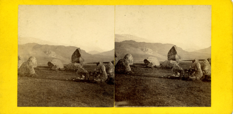 Anonymous stereograph showing the Druid Circle near Keswick.