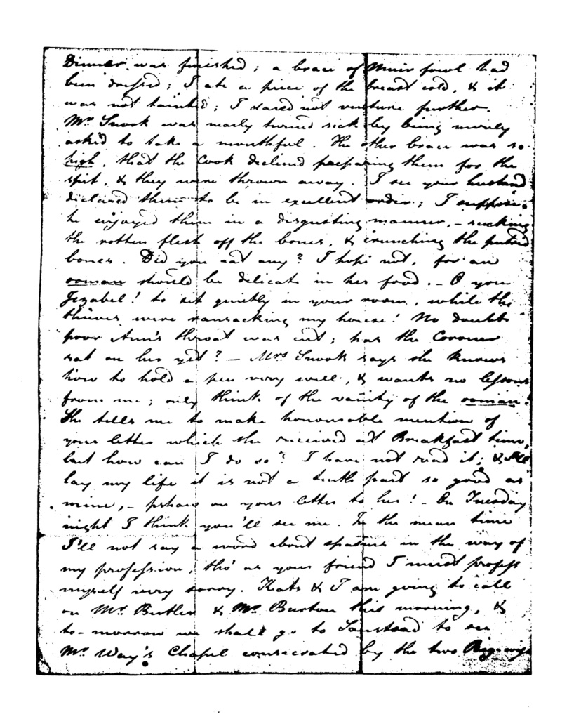 Image of the second page of the manuscript of Brown and Keats's letter to Charles and Maria Dilke, 24 January 1819.
